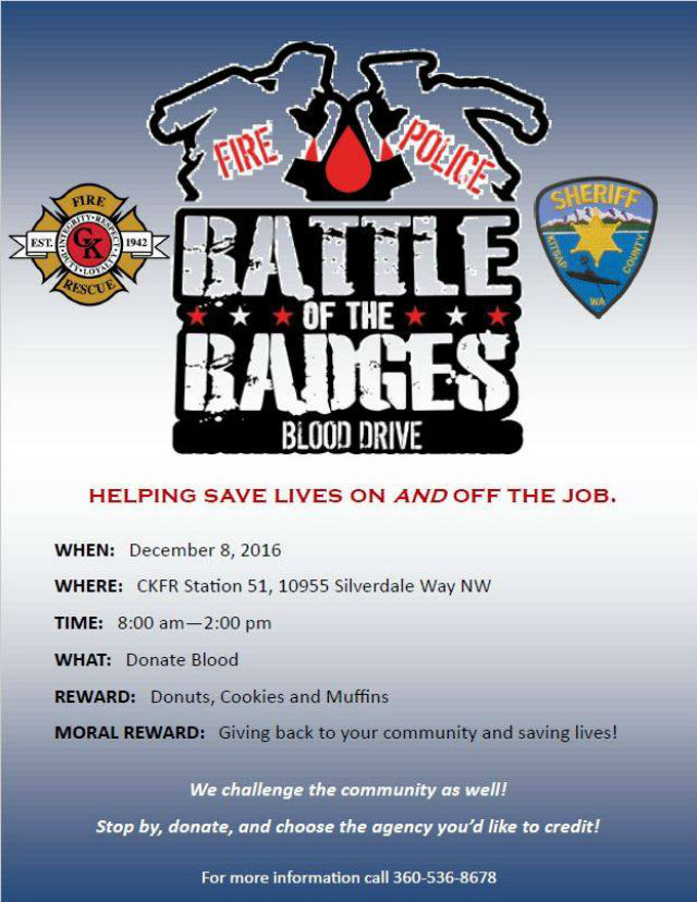 Central Kitsap Fire VS The Kitsap County Sheriff In The Battle Of The Badges