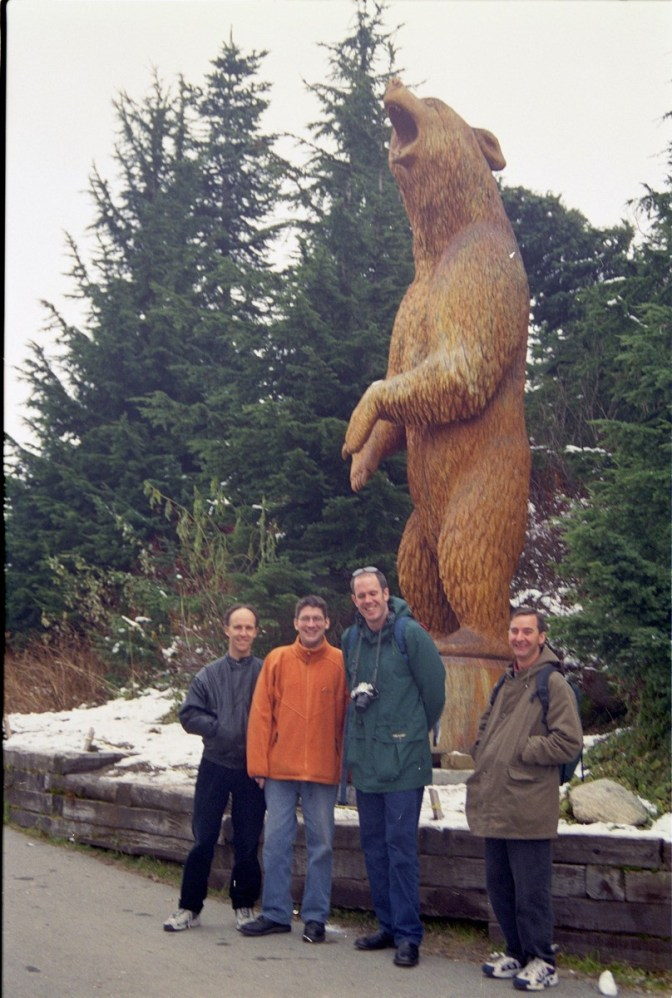 Grouse Mountain, Vancouver, with Gary Wain, Matt Goddard, Peter Kilpatrick and Rob...