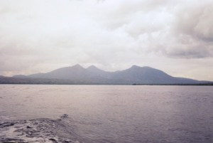 View across the straits to Java
