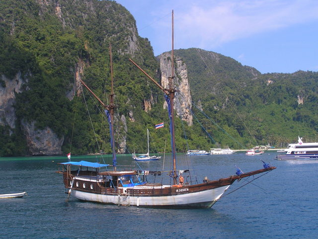Coming into the harbour at Ton Sai, Koh Phi Phi Don