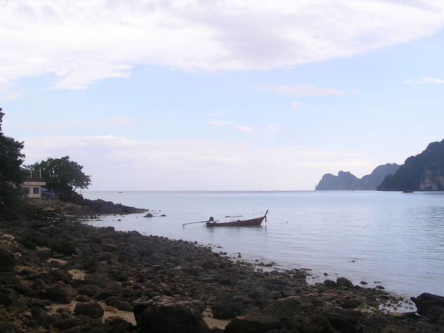 The harbour and Koh Phi Phi Lei from near my digs