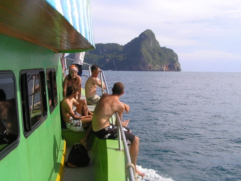 A mix of nationalities on our snorkelling tour around Phi Phi