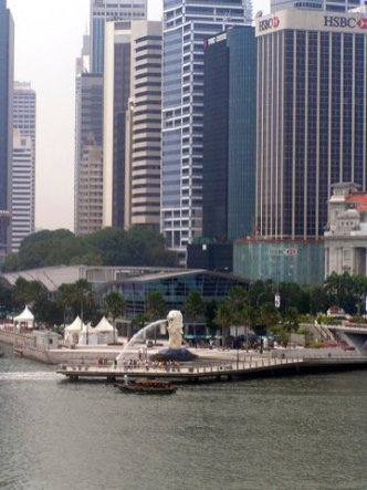 The Merlion, symbol of Singpapore - the Lion City