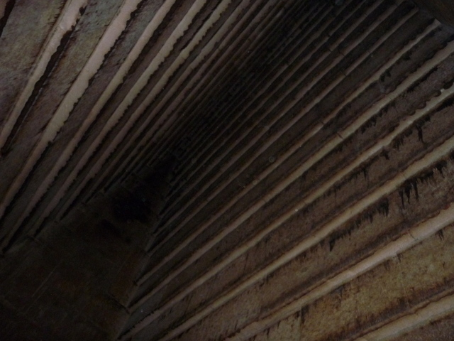 Corbelled ceiling of the inner chamber of the Red Pyramid at Dashur