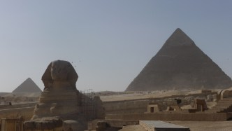 The Sphinx ad te Great Pyramid at Giza