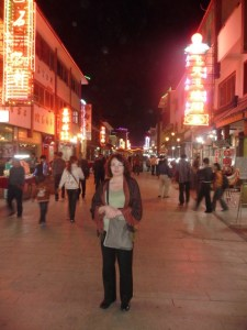 Maria in the night market, Dunhuang