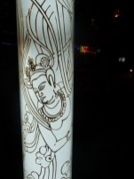 Another apsara - this on an illuminated lamp post