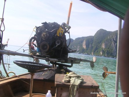 Longtail boat propulsion and steering is a pretty basic bit of engineering