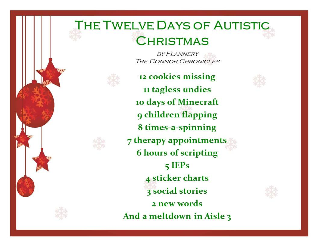 The 12 Days Of Autistic Christmas