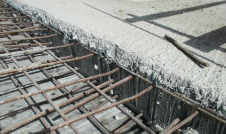 Construction joint in slab