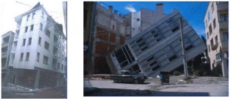 Failure of Building Structure Due to Soil Liquefaction, Liquifaction in Izmit, Turkey