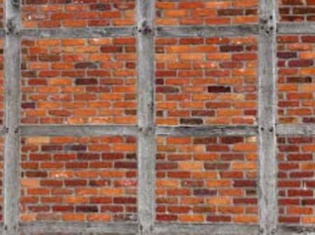 Brick nogging partition wall
