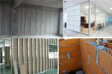 Partition wall types