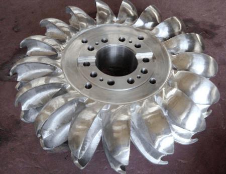 Runner and Buckets of Pelton Wheel Turbine