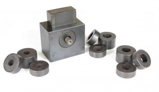 Universal Testing Machine Attachment and Steel Rod Specimen