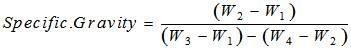Specific Gravity Bitumen Formula