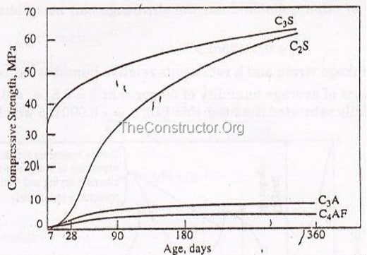 Contribution of Cement Compounds to the Strength of Concrete