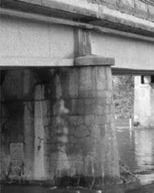 Cracks in a Bridge due to Internal Sulphate Attack