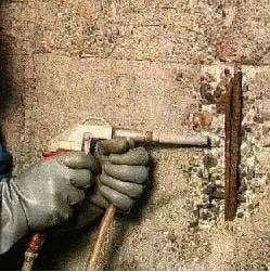 Cleaning of concrete surface prior to repair