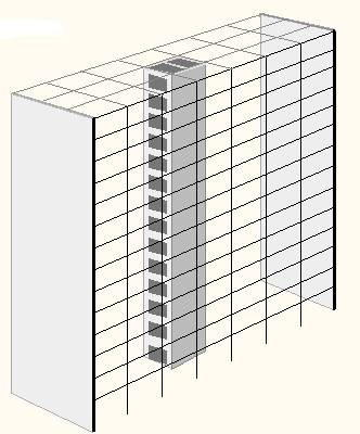 Location of Shear Wall in a Building