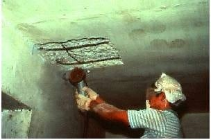 correct technique for repair of concrete structures