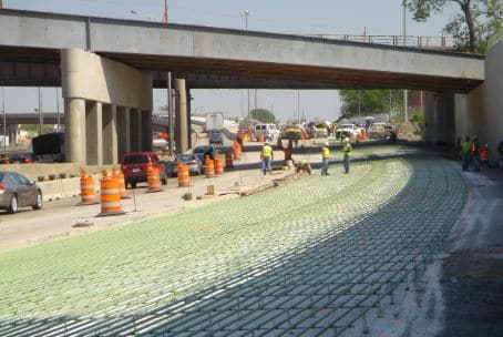 Reinforced Concrete Used to Construct Roads