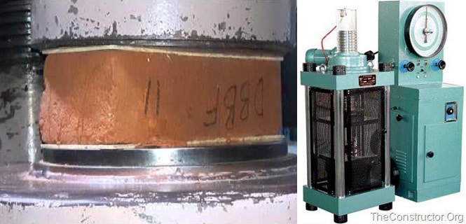 Compressive Strength Test on Brick using Compression Testing Machine