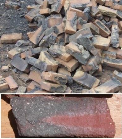 over burnt bricks