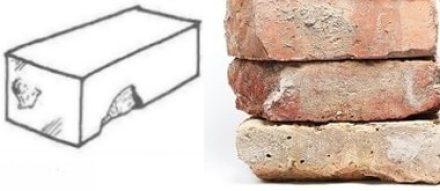 spalling of bricks