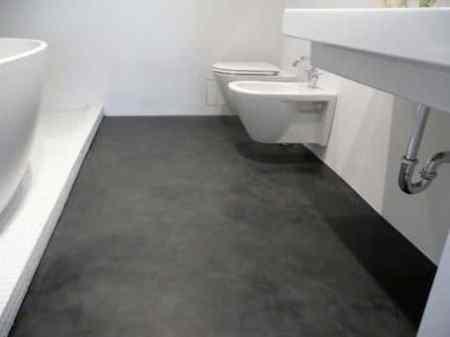 Nhà vệ sinh lát sàn bằng xi măng hiện đại