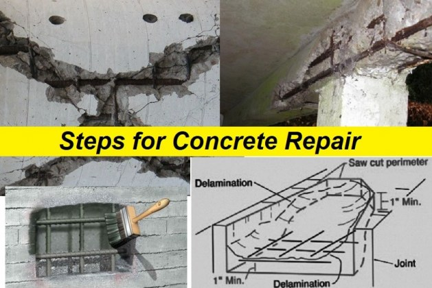 Steps for Concrete Damage Repair in Reinforced Concrete Structures