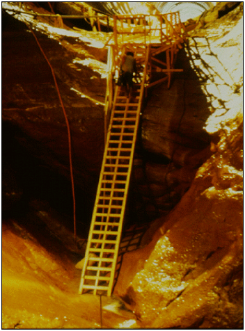 Extensive cavitation damage to Glen Canyon Dam