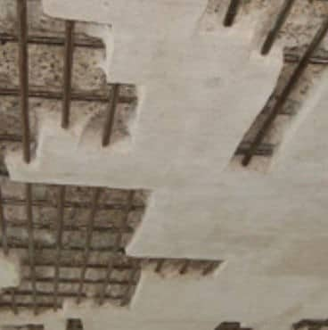 Reinforced Concrete Slab Prepared to be Repaired