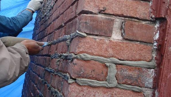 Pointing in Brickwork Construction