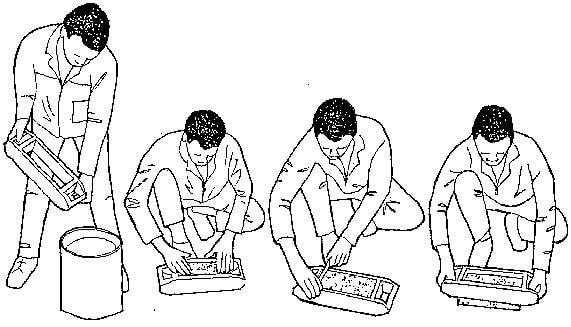 Hand molding of bricks