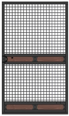Wire gauged door