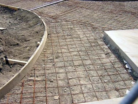 Reinforcement in Stamped Concrete