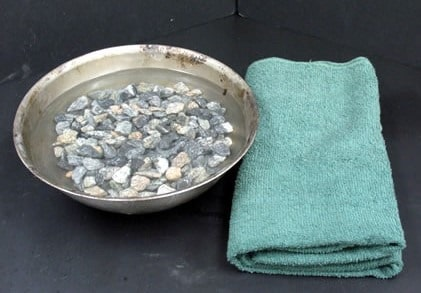 Water absorption test on Aggregates