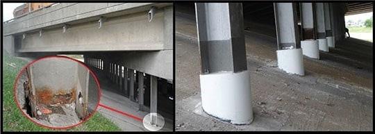 FRP Composites for Corrosion Protection of Underwater Piles