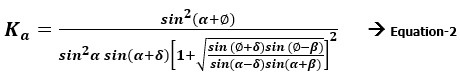 Coulomb Equation for Lateral Earth Pressure Calculation
