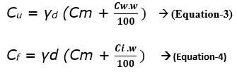 heat capacities of unfrozen (Cu) and frozen soils (Cf)