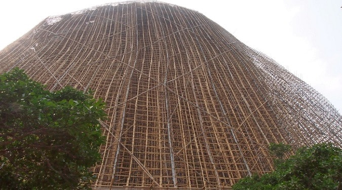 Scaffolding with Bamboo as a Building Material