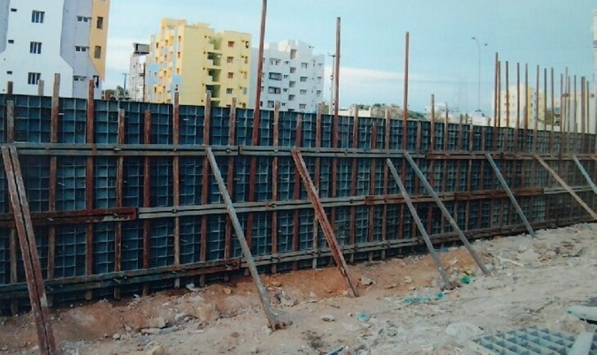 Plastic Formworks used for Wall Construction
