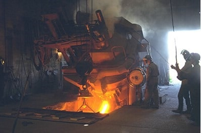Foundry Floors using Heat Resisting Refractory Concrete