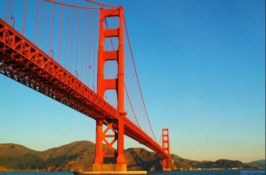 Golden gate bridge stiffening girders