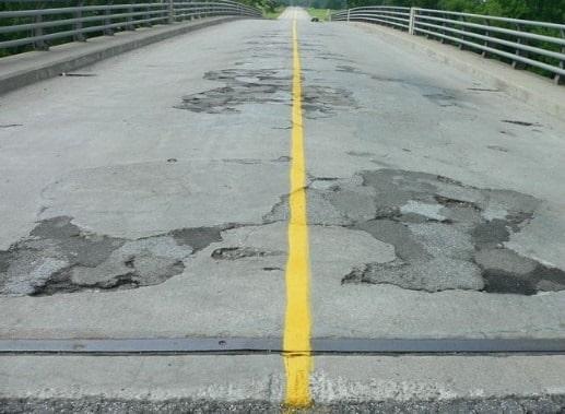 Deteriorated Bridge Deck