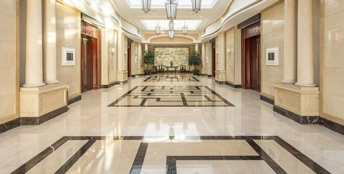 Marble Flooring Material in Buildings