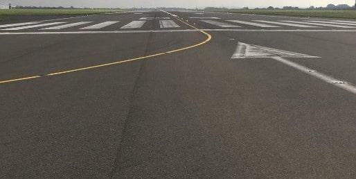 Airfield Runway, Liverpool Airport, UK