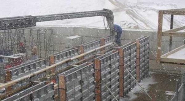Construction of Frost Wall Foundation