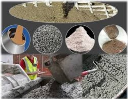 Materials Used in Construction of Concrete Structure